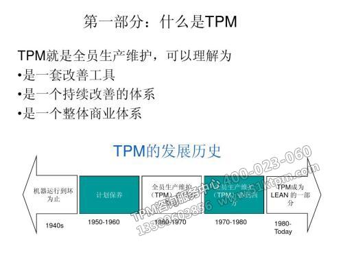 关于精益设备管理TPM的学习体会培训